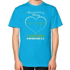 Lymphoma awareness Unisex T-Shirt (on man)