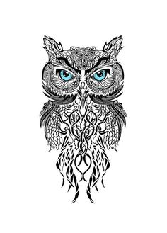 Love this beautiful intricate Owl Tattoo Design!