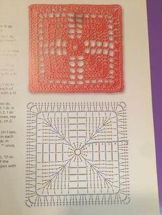Transcendent Crochet a Solid Granny Square Ideas. Inconceivable Crochet a Solid Granny Square Ideas. Motifs Granny Square, Granny Square Crochet Pattern, Crochet Blocks, Crochet Diagram, Crochet Squares, Crochet Granny, Granny Squares, Crochet Bedspread Pattern, Crochet Doily Rug