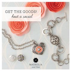 Find out how you can get this beautiful and fun jewelry at discounted prices or for FREE! Visit my website www.mymagnoliaandvine.com/cathym or my Facebook page at  www.facebook.com/milligan.cathy.