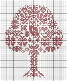 cross stitch pattern, owl and tree Cross Stitch Owl, Cross Stitch Samplers, Cross Stitch Animals, Cross Stitch Flowers, Cross Stitch Charts, Cross Stitch Designs, Cross Stitching, Cross Stitch Embroidery, Embroidery Patterns