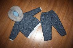 Inuit made toddler snowsuit by Rosemary Akulujuk