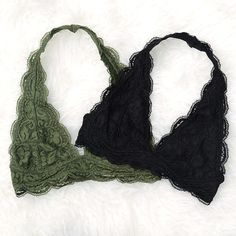 Lace Halter Bralette - Small-XXLarge (more colors) - Bras Cute Bras, Cute Lingerie, Lace Halter Bralette, Halter Neck Bra, Bralette Bras, Body Suit Outfits, Trendy Swimwear, Culottes, Lingerie Collection
