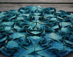 Creative Textiles - art nouveau tessellation; dimensional pattern design