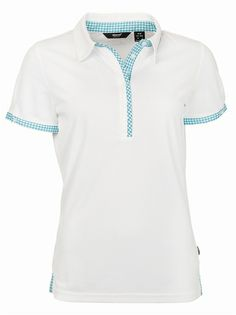 Abacus Golf Women's Lucie Polo White/Emerald Check | Golf4Her
