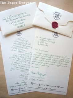 Custom Hogwarts Acceptance Letter: Send one to your child as a surprise announcement that you& taking a trip to The Wizzarding World of Harry Potter