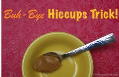 The Quick Get Rid of Hiccups Trick! via TheFrugalGirls.com #peanut #butter