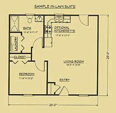 Floor plan for mother in-law suite.