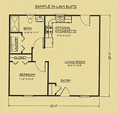 A room for mom on pinterest breezeway guest houses and for Small house plans with mother in law suite
