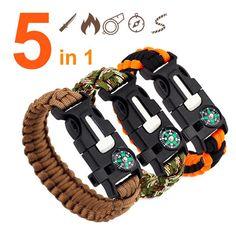 Braided Bracelets, Paracord Bracelets, Bracelets For Men, Bracelet Men, Gelang Paracord, Paracord Braids, Outdoor Survival Gear, Survival Items, Survival Kit