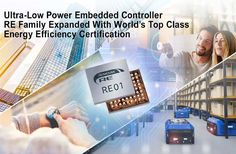 Renesas' RE01 Family Embedded Controllers Electronics Basics, Electronics Components, Real Time Clock, Programming Tools, Dc Dc Converter, Energy Harvesting, Arm Cortex, Data Processing, Flash Memory