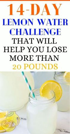 Here's A Lemon Water Challenge That Will Help You Lose Weight Flat Belly Challenge, Water Challenge, Diet Drinks, Fun Drinks, Low Calorie Diet, Lemon Water, Ways To Lose Weight, Detox, Challenges