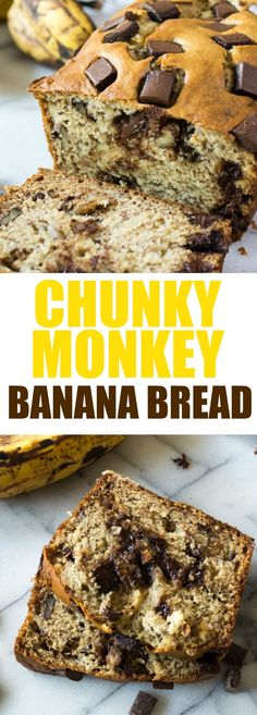 Chunky Monkey Banana Bread (and Recipe Video!) Chunky Monkey Banana Bread!  An update to a classic banana bread by adding walnuts and chocolate.