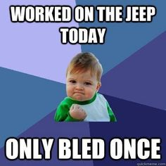 """Worked On The Jeep Today""... [FUNNY PIC] shared by Fortec Custom Jeeps @arbil4x4 #jeep"