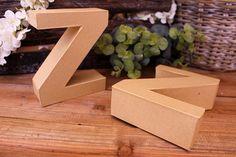"""Γράμμα """"Z"""" Papier Mache  Γράμμα """"Z"""" papier mache.Xρησιμοποιήστε τα ως έχουν, ή διακοσμήστε τα με όποια τεχνική θέλετε. Κολλήστε Washi Tapes, διακοσμήστε με σφραγίδες ή ζωγραφίστε τα, συνδυάστε μικρά ξύλινα ή μεταλλικά διακοσμητικά στοιχεία, κορδέλες, κορδόνια και ότι άλλο μπορείτε να φανταστείτε. Ιδανικά και ως βάση για Ντεκουπάζ. Washi, Container, Canisters"""