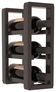 3 Bottle Counter Top/Pantry Wine Rack in Pine, Black Stain + Satin Finish - contemporary - Wine Racks - Wine Racks America