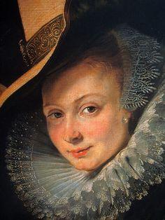 Amber Cheryl • 17 hours ago Rubens, Isabella Brant in the Honeysuckle Bower (detail), 1609–10