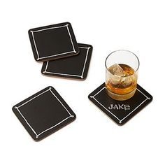 Prepare this stone coaster set in your refrigerator or freezer, for a naturally chill round of beer or soda.