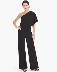 61c530bf6082 Women s Adrianna Papell One-Shoulder Jumpsuit by White House Black Market