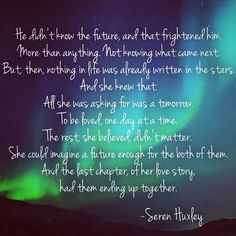 Her love story had them ending up together...