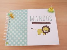 LA CAIXA DE SCRAP: Mini álbum bebé MARCOS
