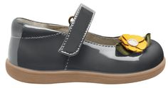 See Kai Run Emily - Gray $49.95 http://www.meandmyfeet.com/see-kai-run-emily-gray #Infant #Toddler #Girls #Gray #Shoes #Strap