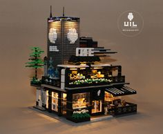 "https://flic.kr/p/QYJu3d | LEGO Modular MOC - UiL Cafe ""Mingle with the night"" 