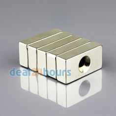 OMO Magnetics Neodymium Countersunk Ring Block Magnets x x Hole Cube, Magnets, Ring, Rings, Quarter Ring, Jewelry Rings