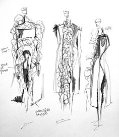 Fashion Sketchbook - fashion design drawings; dress sketches; fashion portfolio; the creative process // Connie Blackaller