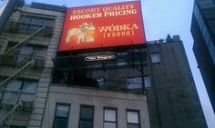 Fabulous advertising.  Found in lower Manhattan, near the Holland Tunnel, NYC.