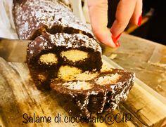 salame di cioccolato alessandra ruggeri Bon Appetit, Desserts, Food, Tailgate Desserts, Deserts, Essen, Postres, Meals, Dessert