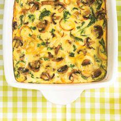 Frittata aux champignons et aux épinards ... mmm, ça me tente cette recette que je vais faire avec  du kale