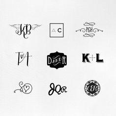 Premade Customised Monogram Logo by Fossdesign by fossdesign