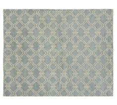 Scroll Tile Rug from Pottery Barn. 9x12.    inspiration for a bryn mawr living room to be designed by down2earth interior design