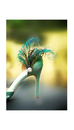 Wedding Peacock Sword Teal Rooster Feathers & by sofisticata