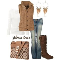 Love the vest and boots
