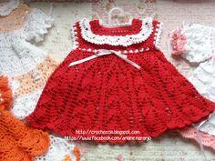 vestido de crochê para bebê com gráfico                                                                                                                                                      Mais