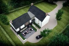 PLease take time to check out this replacement dwelling. This bespoke L-shaped dwelling design is a traditional rural farmstead in a secluded rural setting. Farmhouse Renovation, Modern Farmhouse Exterior, Farmhouse Plans, Style At Home, Interior Design Northern Ireland, L Shaped House Plans, House Designs Ireland, Cottage Extension, Luz Natural