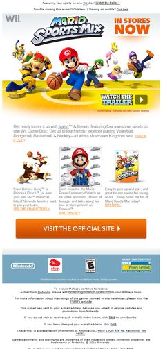 Nintendo Wii  http://www.email-gallery.com/email-gallery/869/Nintendo-newsletter.asp