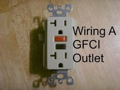 Detailed instructing by choosing, installing and wiring a GFCI outlet. Written by an electrician for the homeowner doing their own work. ** Read more about home decor at the image link. Home Electrical Wiring, Electrical Projects, Electrical Outlets, Electrical Engineering, Electrical Installation, Residential Electrical, Electrical Switches, Installing Electrical Outlet, Ac Wiring