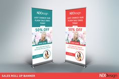 Sales roll up banner by NEXDesign on @creativemarket