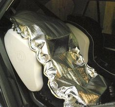 DIY Car Seat Sun Shade by the Silly Pearl - wish I could sew, this would really come in handy for Texas summers