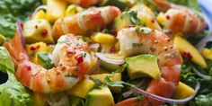 Prawns, Mango and Avocado Salad