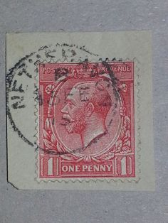 "#retweet #postcards GB KGV 1915 SG357 1d Scarlet ""Nethervon"" Village Single Circle CDS Cancel #RT 50% OFF when you Buy 3+"