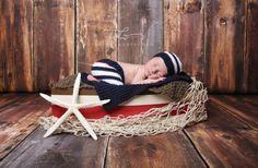 RTS Newborn Shorts and Hat, Nautical Knit Newborn Short Pants and Bonnet Hat, Great Photography Prop