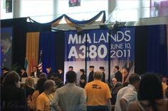 A380 Inauguration flight of Lufthansa Airbus from Frankfurt to Miami