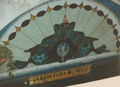 Stained glass window from La Bodeguita del Medio, an old Hemingway hangout