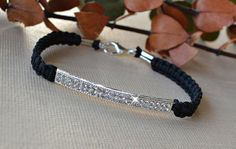 Crystal Bar Friendship Bracelet by HeartofGems on Etsy, $13.00