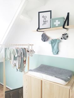 babykamer mint - My CMS Mint Baby Rooms, Baby Boy Rooms, Baby Bedroom, Girls Bedroom, Baby Room Design, Girl Room, Decoration, Vans, Kidsroom