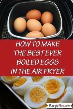 Air Fryer Soft & Hard Boiled Eggs with our Philips Air fryer. If you are overloaded with information of how to cook boiled eggs in the air fryer… Air Fryer Recipes Breakfast, Air Fryer Dinner Recipes, Air Fryer Recipes Easy, Easy Recipes, Airfryer Breakfast Recipes, Air Fryer Recipes Vegetarian, Snacks Recipes, Keto Recipes, Cooking Recipes